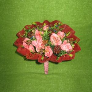 Кофейно-анисовый букет с розами из мыла