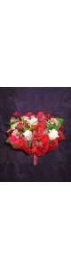 Красный мыльный букет (11 роз)