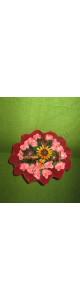 Кофейно-ванильный букет с розами из мыла (19 роз)
