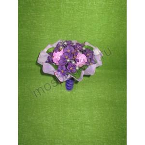 Букетик с розами из мыла (3 розы)