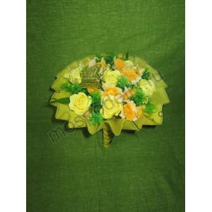 Букет с розами из мыла лимонный (11 роз)