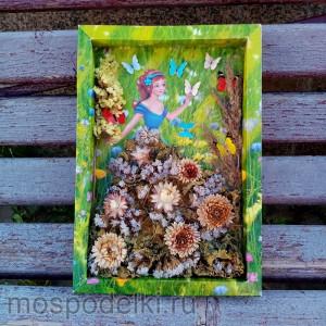 Панно из засушенных цветов