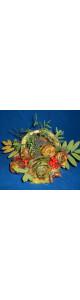 Композиция из природного материала в корзине (5 роз)