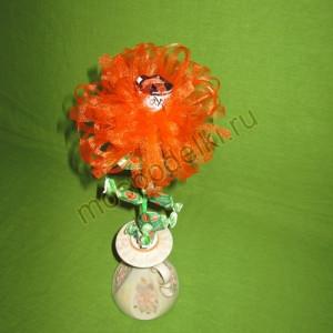 Хризантема из органзы