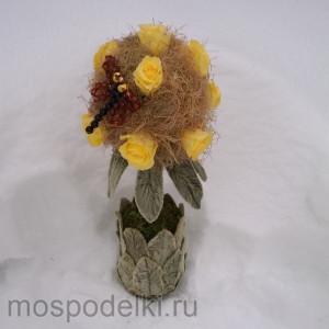 Топиарий со стабилизированными розами