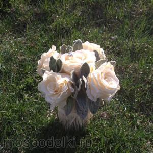 Букет из живых (стабилизированных) роз