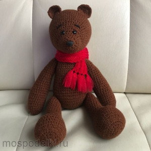 Медведь вязаный
